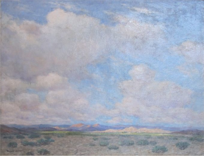Albert Groll Painting Land of the Navajo Oil on Canvas