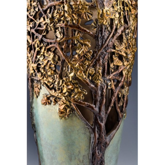 Carol Alleman Sculpture Ginkgo: Seed of Hope Bronze