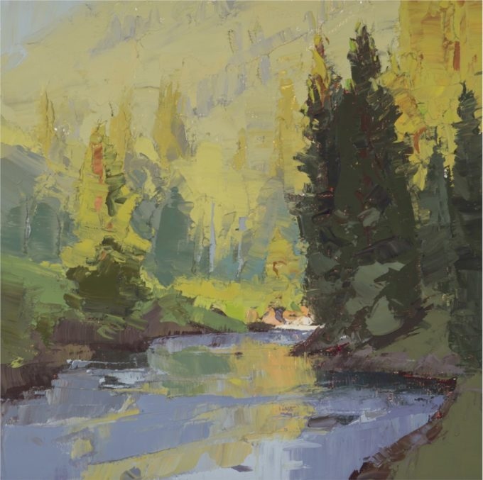 Chula Beauregard Painting Crystal River Series #7 Oil on Canvas