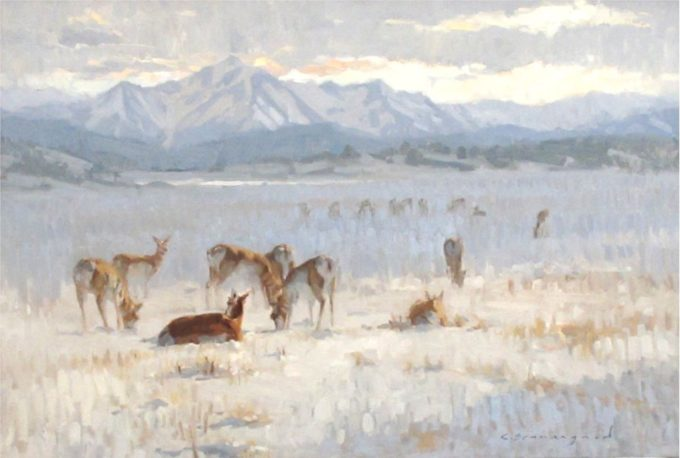 Chula Beauregard Painting Ghost of Winter Oil on Canvas
