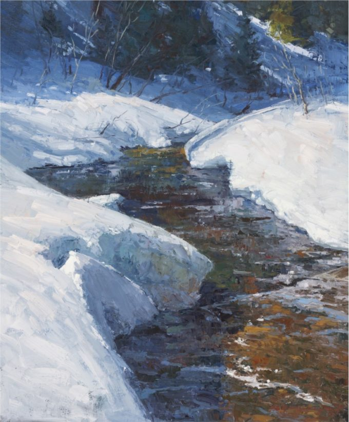 Chula Beauregard Painting Late Winter Solace Oil on Canvas