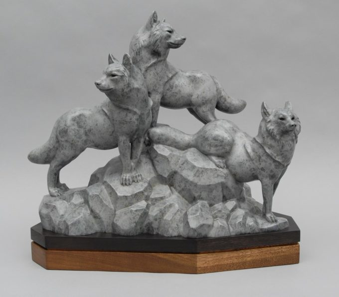 Gerald Balciar Sculpture Leaders of the Pack Bronze
