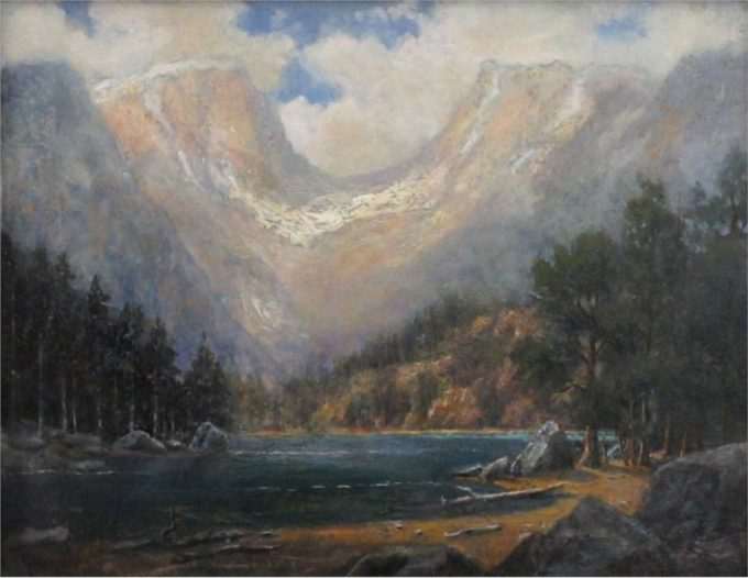 Jerry Malzahn Painting Dream Lake Oil on Board