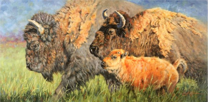 Krystii Melaine Painting Gros Ventre Summer Oil on Belgian Linen