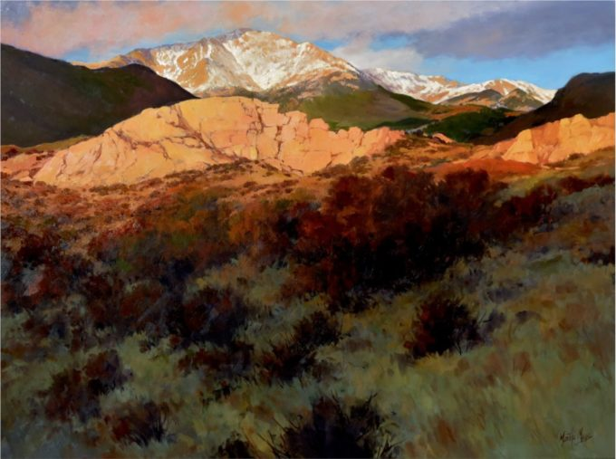 Martha Mans Painting First Light Oil on Canvas