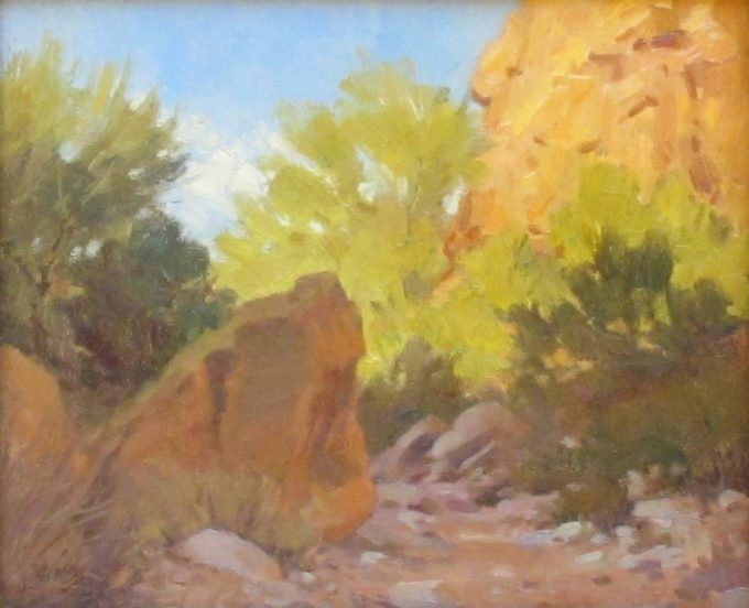 Ralph Oberg Painting Reflected Light Oil on Board