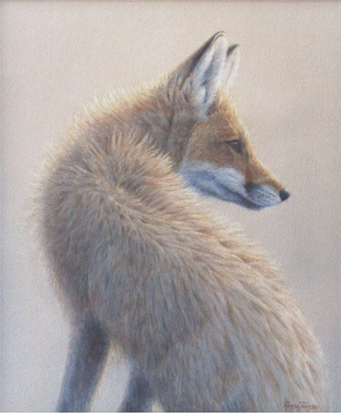 Renso Tamse Painting Sister Fox Watercolor