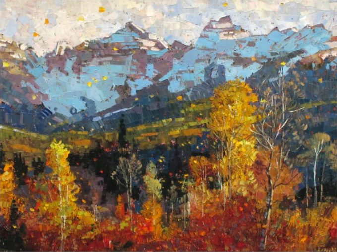 Robert Moore Painting Autumn in the Rockies Oil on Canvas