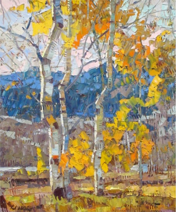 Robert Moore Painting Colours Oil on Canvas