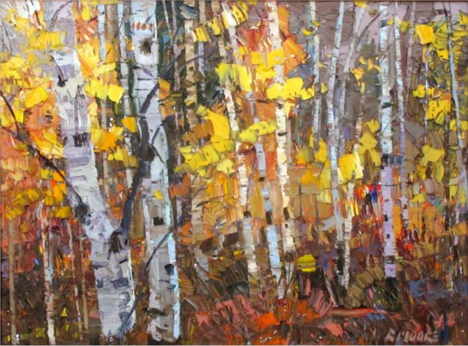 Robert Moore Painting Into the Glade Oil on Canvas