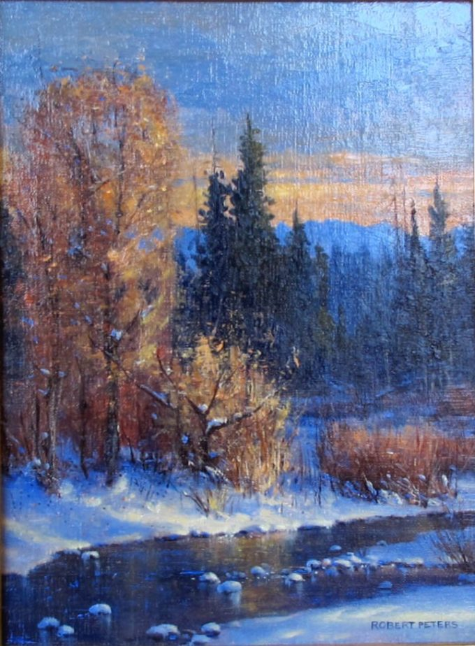 Robert Peters Painting The Deepening Year Oil on Linen
