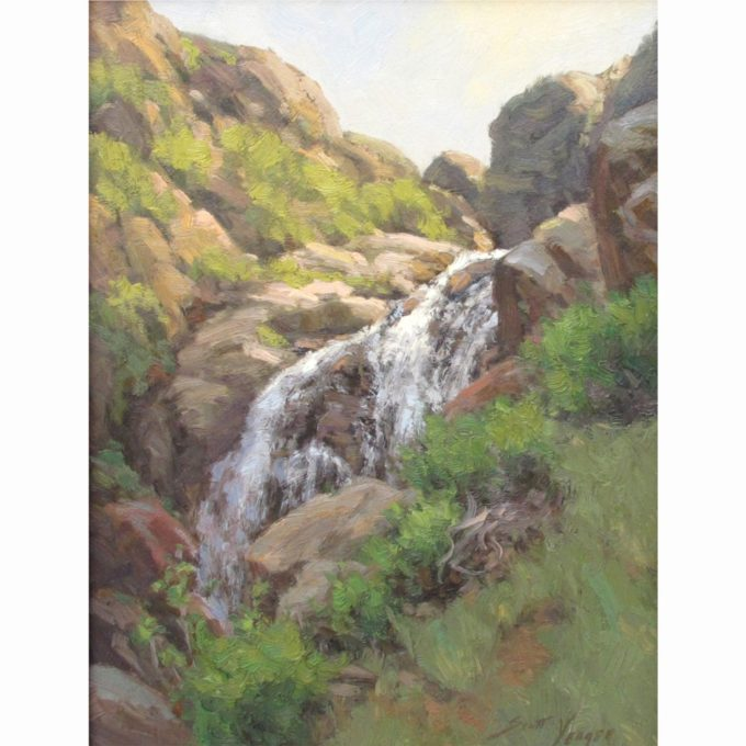 Scott Yeager Painting Canyon Tributary Oil on Board