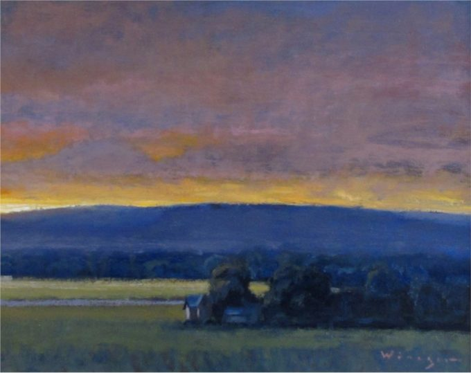 Seth Winegar Painting Sunset Moments Oil on Panel