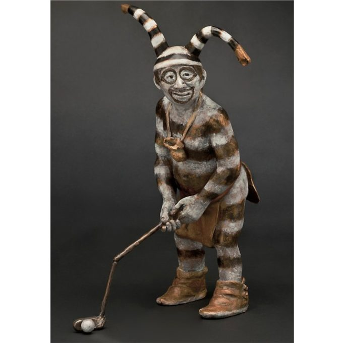 Susan Kliewer Sculpture Putter Man Bronze