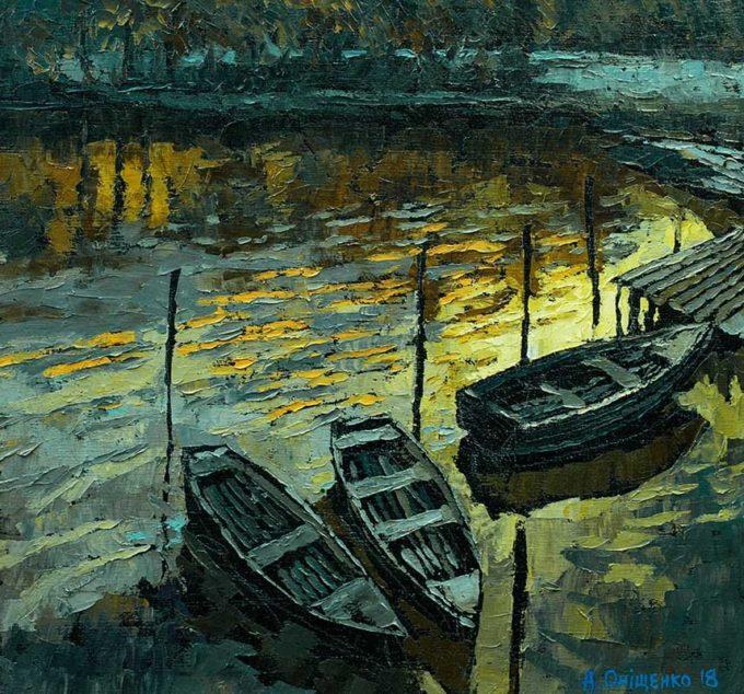 Alexandr Onishenko Painting Serene Morning Oil on Canvas