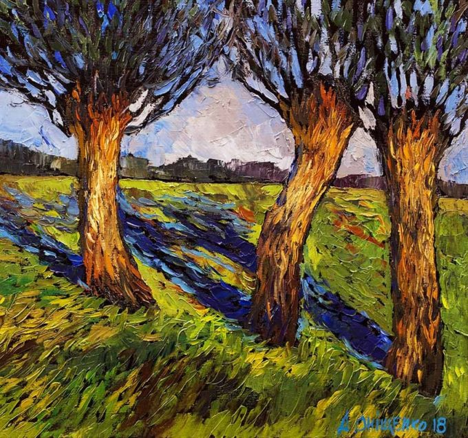 Alexandr Onishenko Painting Trio Oil on Canvas