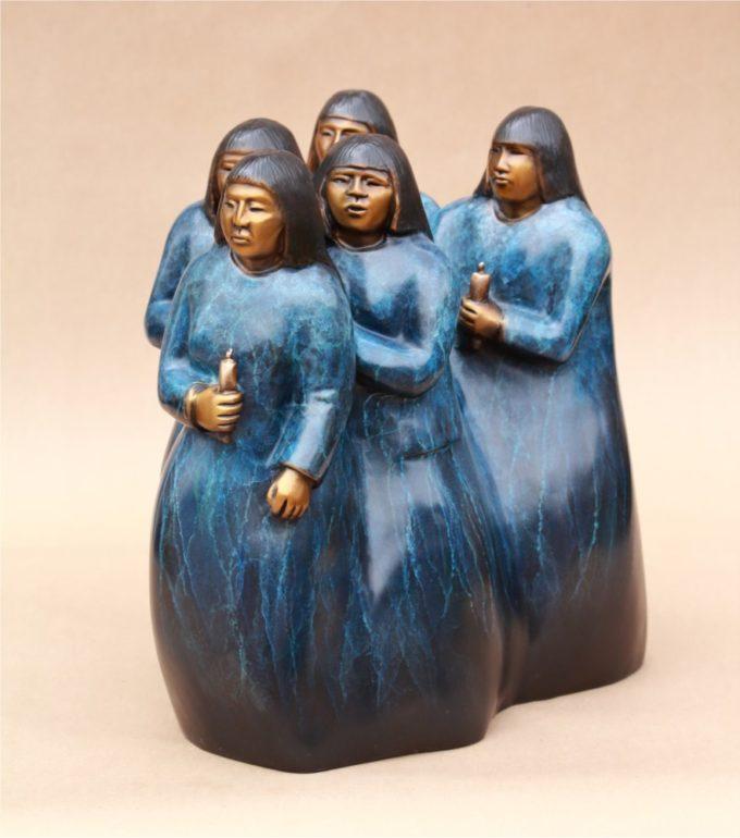 Doug Hyde Sculpture Candlelight Vigil Bronze