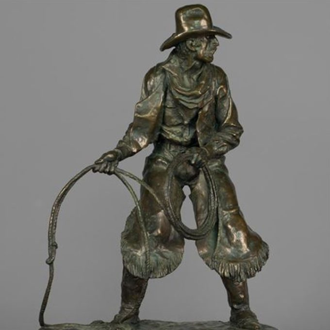 Herb Mignery Sculpture The Horse Catcher Bronze