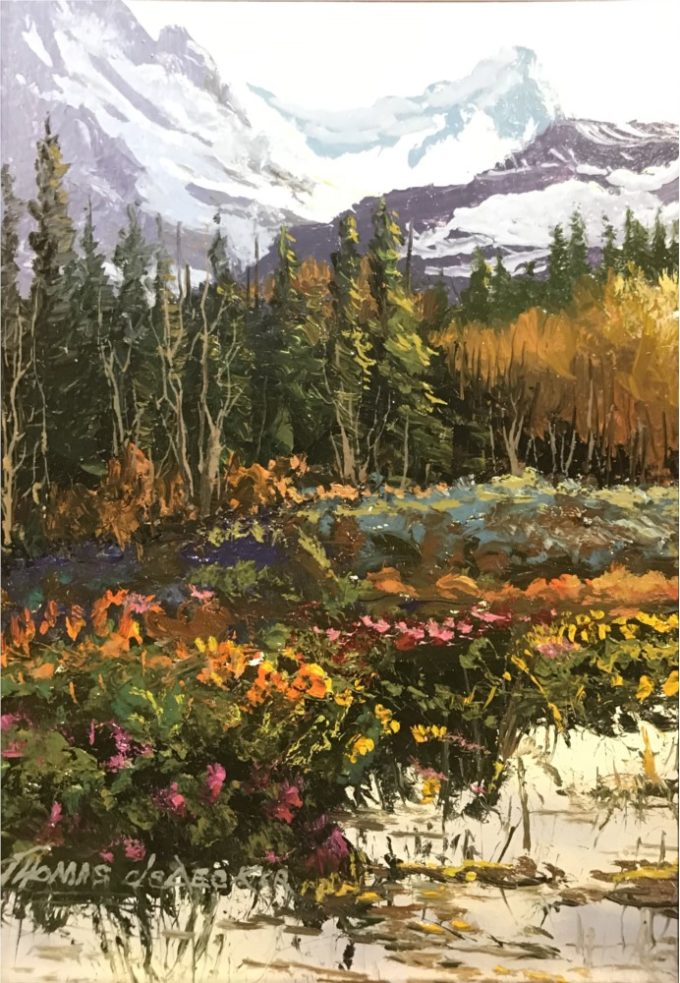 Thomas DeDecker Painting Colorado Colors Oil on Board
