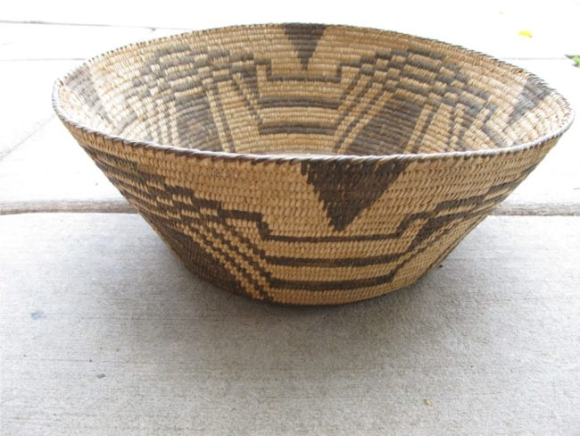 Artist Unknown Functional Basket - Large Pima Weaving