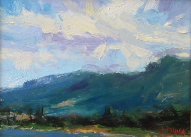 Bill Inman Painting Mountain Melody Oil on Board