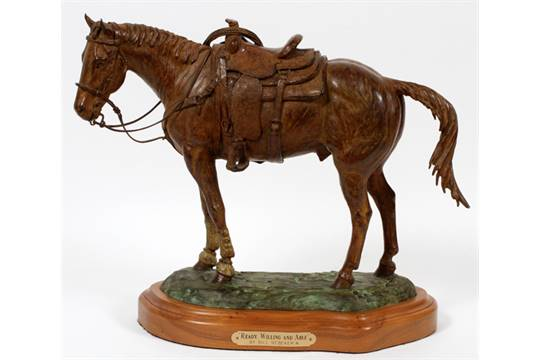 Bill Nebeker CA Sculpture Ready Willing and Able Bronze