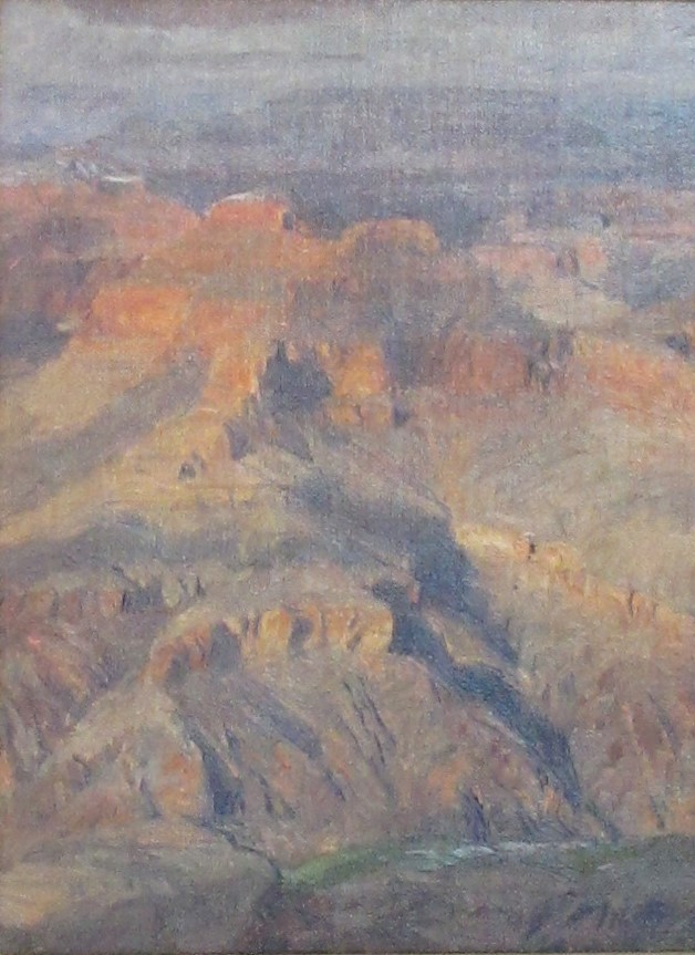 Curt Walters Painting Winter Color From Pima Point Oil on Canvas