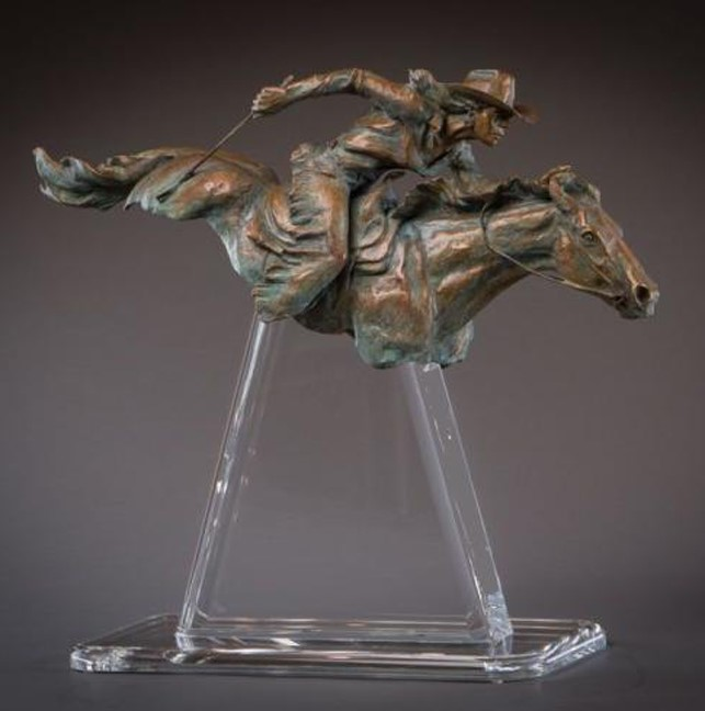 Deborah Copenhaver-Fellows Sculpture Chasing The Dream Bronze