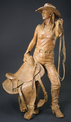 Deborah Copenhaver-Fellows Sculpture I Saddle My Own Horse Bronze