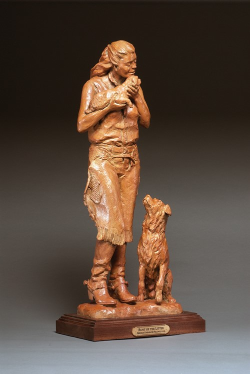 Deborah Copenhaver-Fellows Sculpture Runt of the Litter Bronze