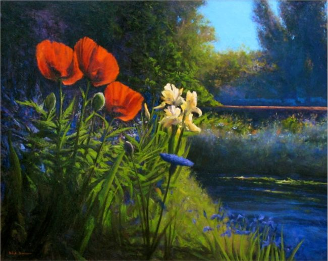 Dix Baines Painting Poppies Red