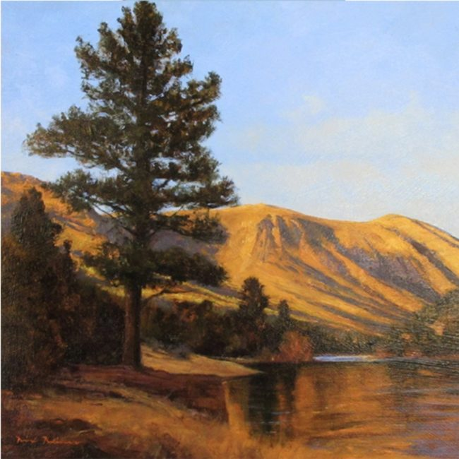 Dix Baines Painting Western Water Oil on Board