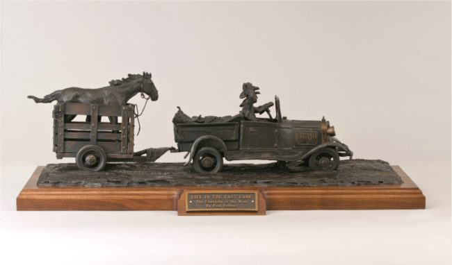 Fred Fellows CA Sculpture Life in The Fast Lane Bronze