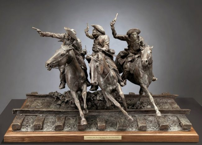 Greg Kelsey Sculpture Sundance and The Wild Bunch Hit the Union Pacific Bronze