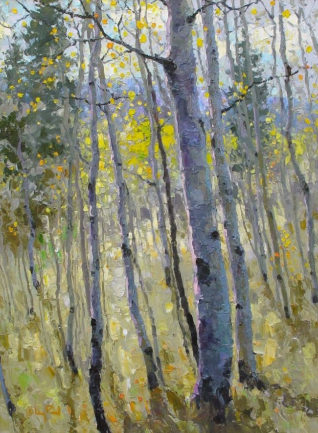 Gregory Packard Painting Autumn Layers Oil on Panel