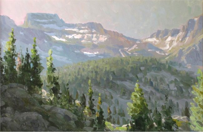 Gregory Packard Painting Coxcomb Oil on Panel