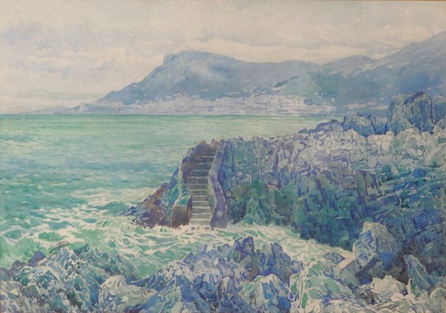 Gunnar Widforss Painting Seascape Watercolor
