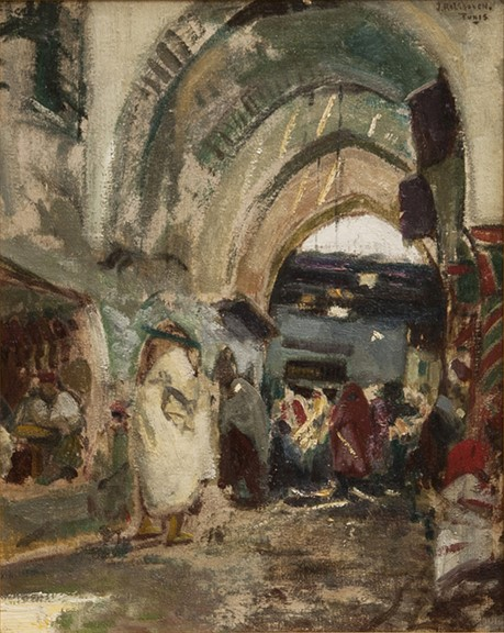 Julius Rolshoven Painting Tunis Oil on Canvas