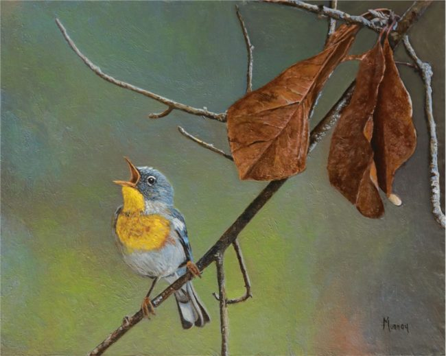 Karla Murray Painting A Forest Love Song Oil on Board