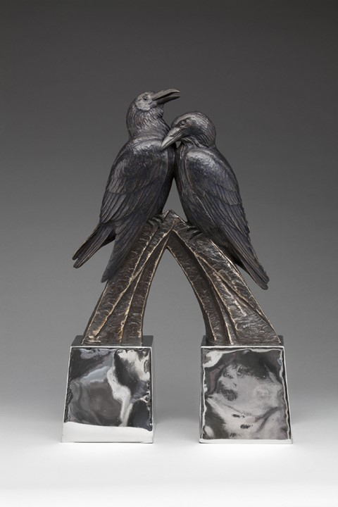 Kent Ullberg Sculpture Mind and Passion Bronze & Stainless Steel