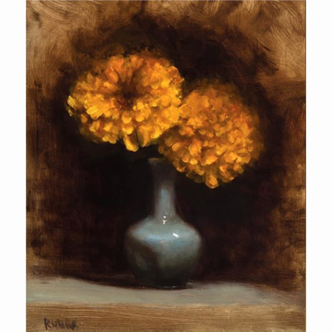 Marc Rubin Painting Marigold Enchantment Oil on Board