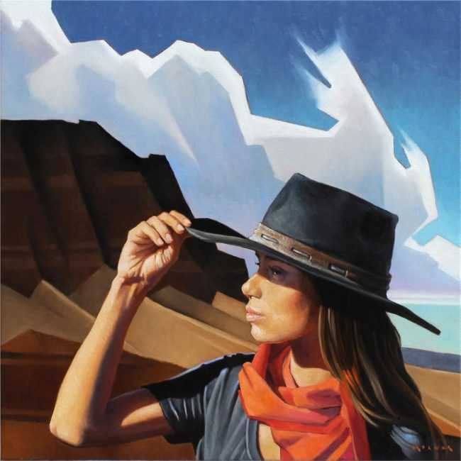Marcia Molnar Painting A Whisper in the Wind Oil on Linen