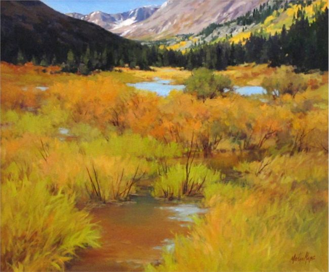 Martha Mans Painting Below Hooser Pass Oil on Canvas