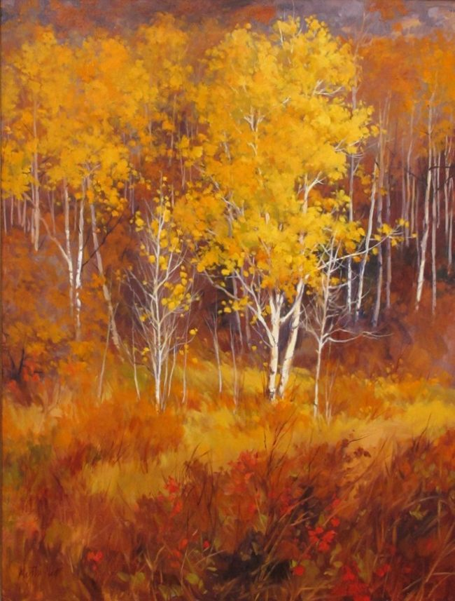 Martha Mans Painting Fall Sentinel Oil on Canvas