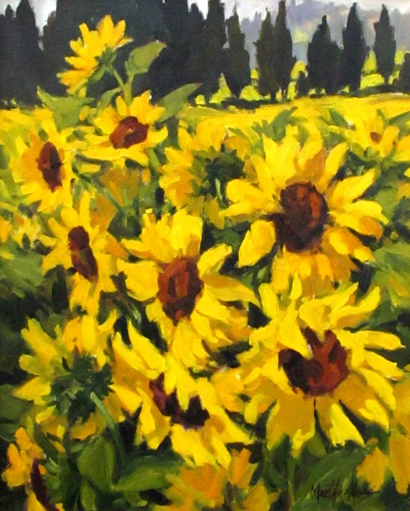 Martha Mans Painting Summer Gold Oil on Canvas