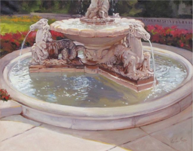 Martha Mans Painting The Fountain at The Broadmoor Oil on Canvas