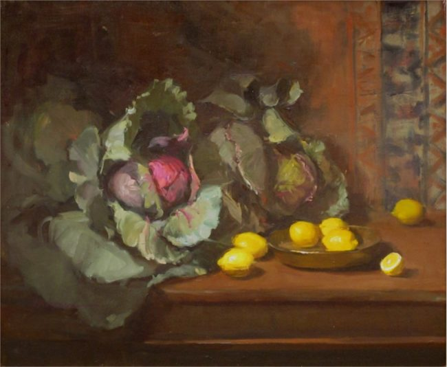 Nancy Chaboun Painting Plenty of Cabbage Oil on Canvas