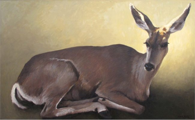 Richard Murray Painting Doe Oil on Board