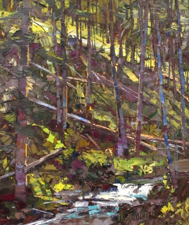 Robert Moore Painting Afternoon Light Oil on Board