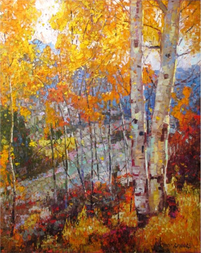 Robert Moore Painting Fruition Oil on Canvas